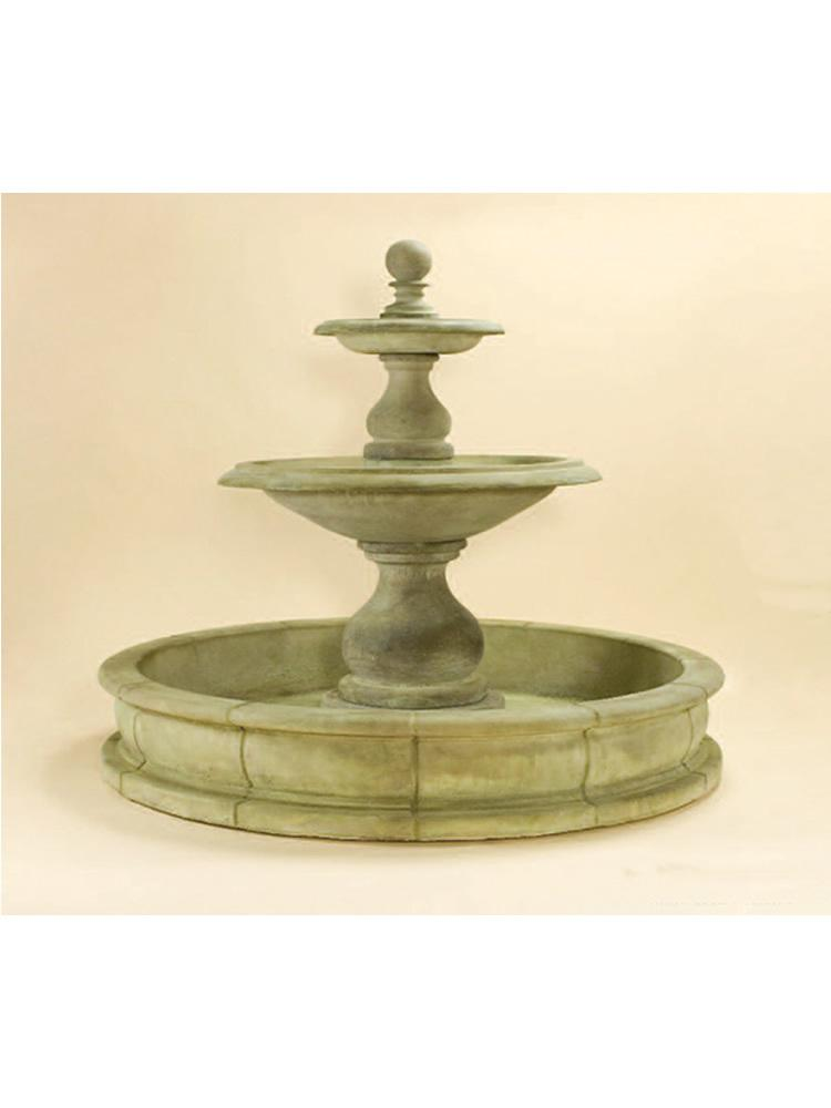 "Carrara Two Tier Pond Fountain (66"" Pond)"