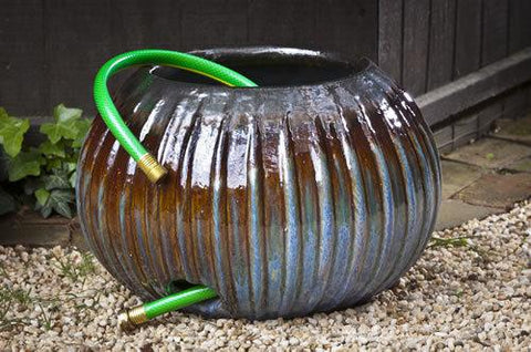 Bristow Ribbed Hose Pot - Art Pottery