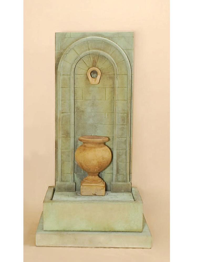Etruria Urn Wall Fountain Short Urn