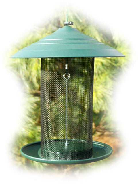 Steel Magnum Thistle Bird Feeder, Green