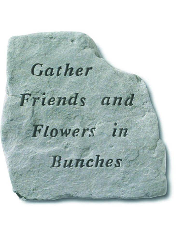 Gather Friends and Flowers Stone Plaque