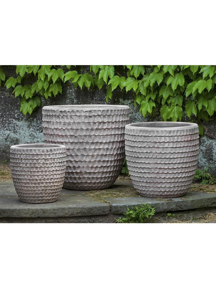 Dimple Planter  - Set of 3 in Antico Terra Cotta