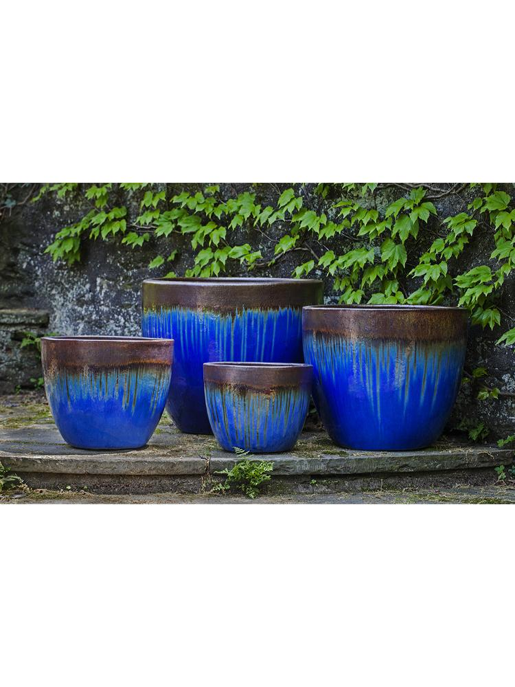 Marcel Planter - Set of 4 in Bronze Blue