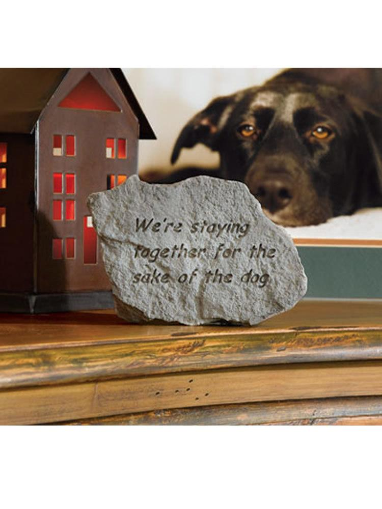 For the Sake of the Dog Mini Garden Stone/Plaque