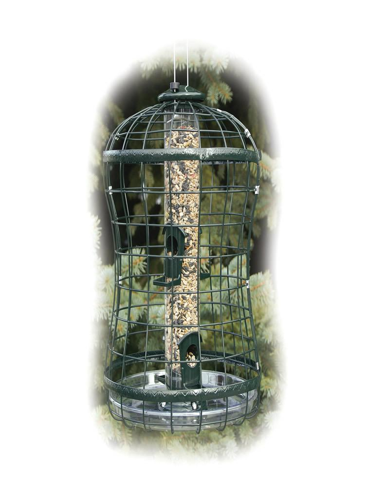 Caged Tube Bird Feeder