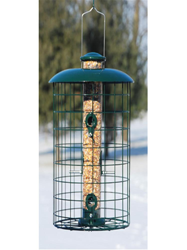 Caged Seed Tube Bird Feeder