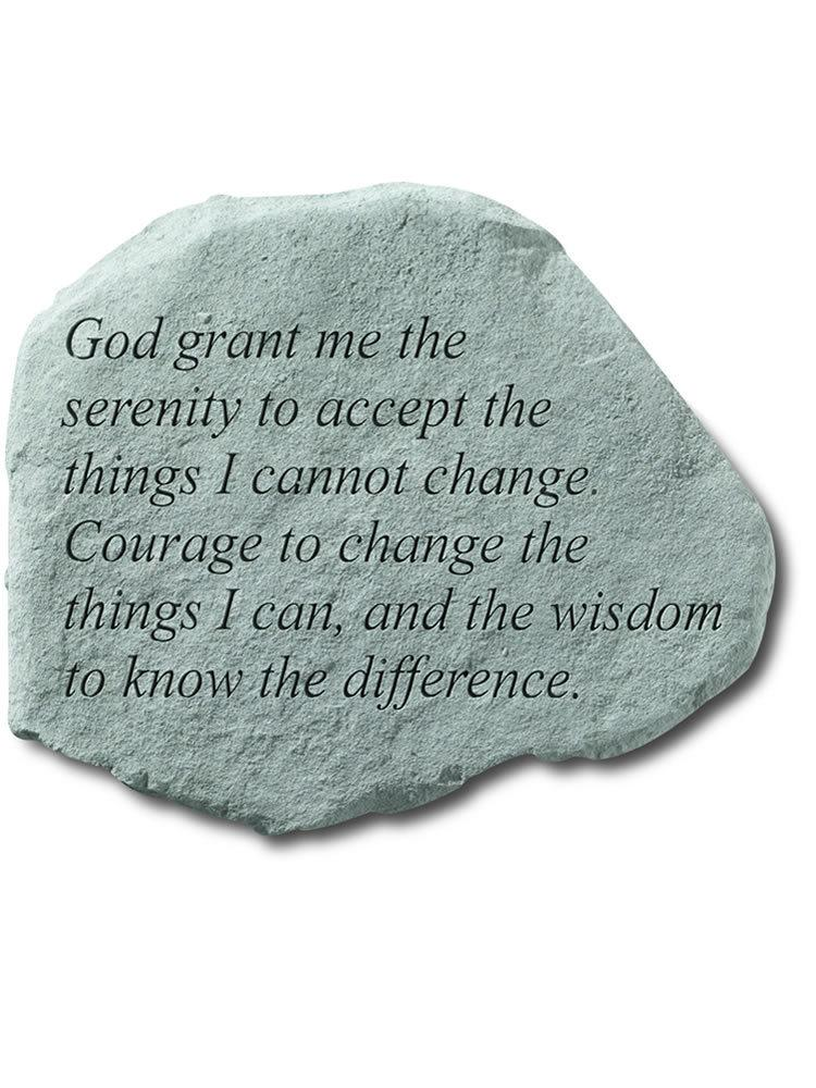 Serenity Prayer Stone Plaque