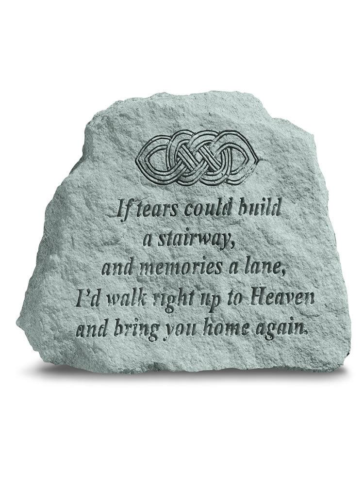 If Tears Could Build a Stairway Stone Plaque with Celtic Knot