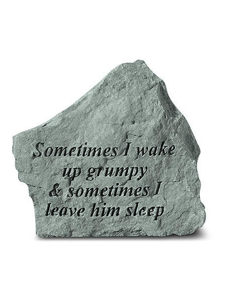 Sometimes I Wake Up Grumpy Mini Garden Stone/Plaque