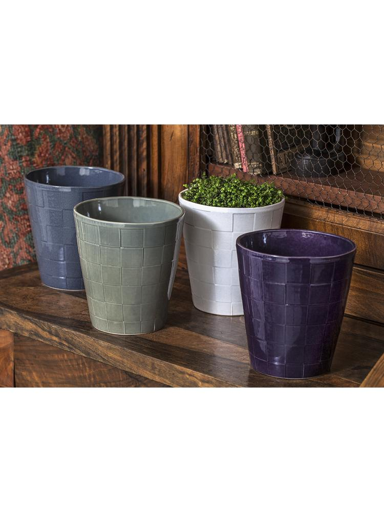 Boho Checkered Planter - Set of 8