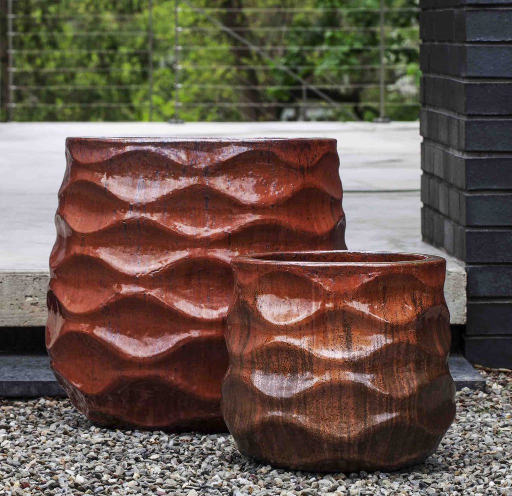 Rumba Planter - Set of 2 in Sunset Red