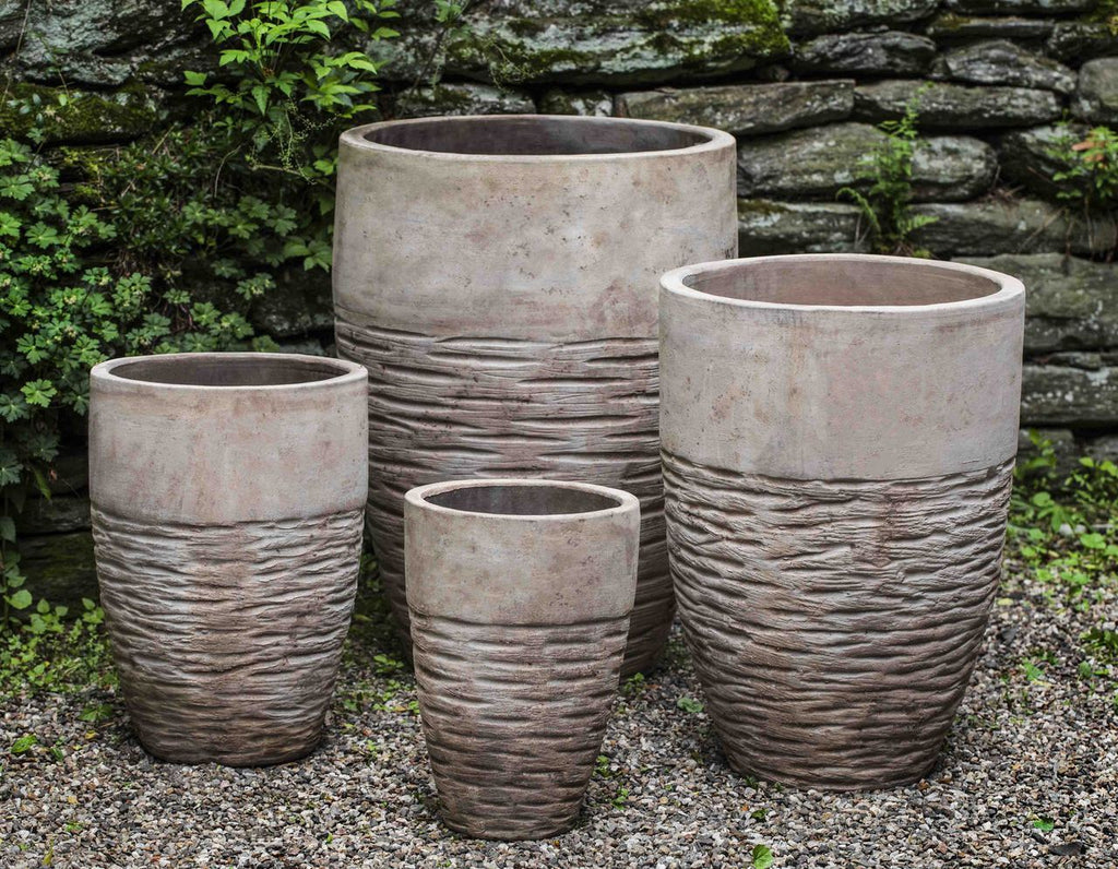 Tall Hyphen Planter  - Set of 4 in Antico Terra Cotta