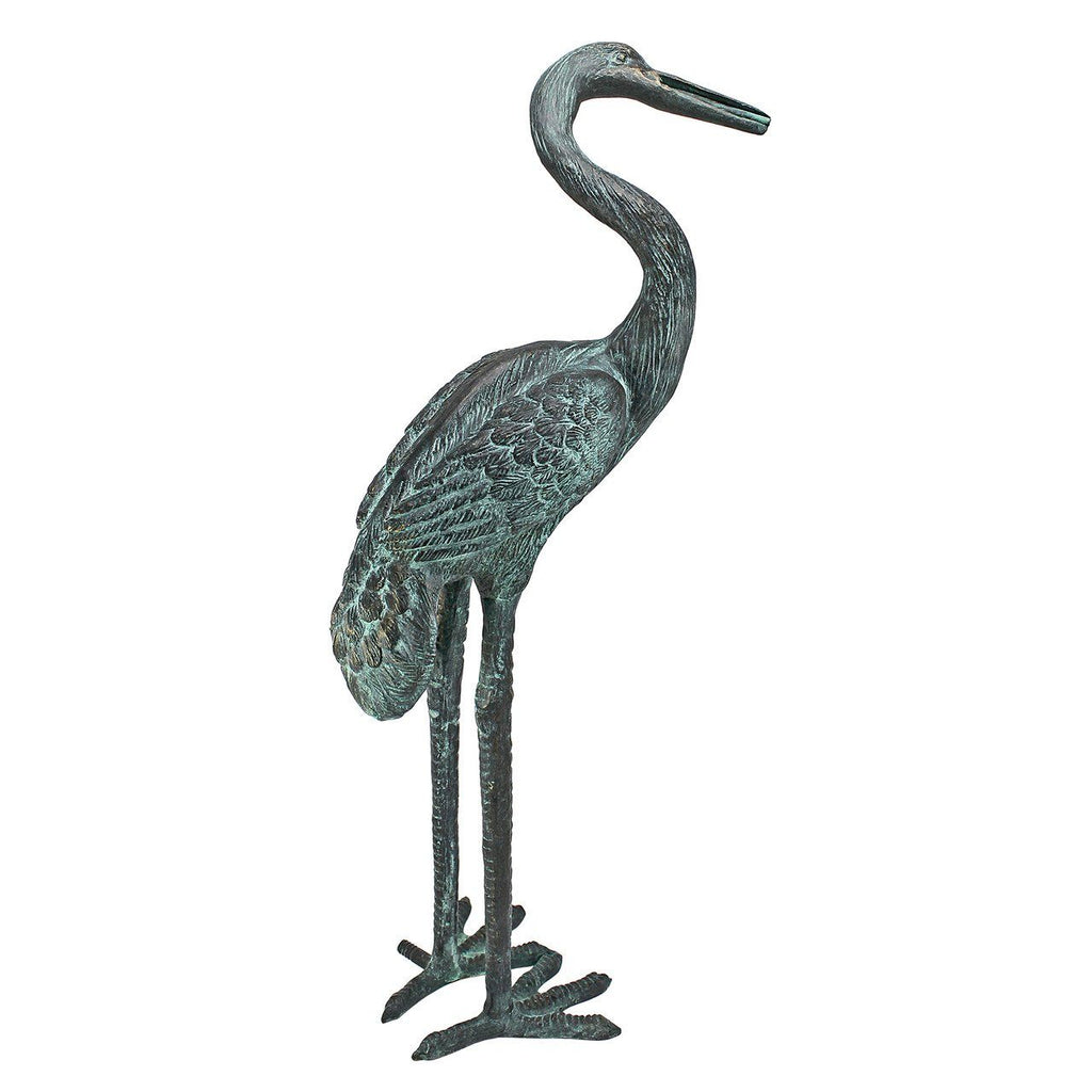 Medium Bronze Crane: Curved Neck