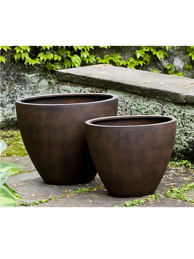 Low Oval Lite Planter Set of 2