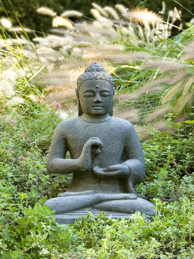 Indonesian Seated Buddha Garden Statue