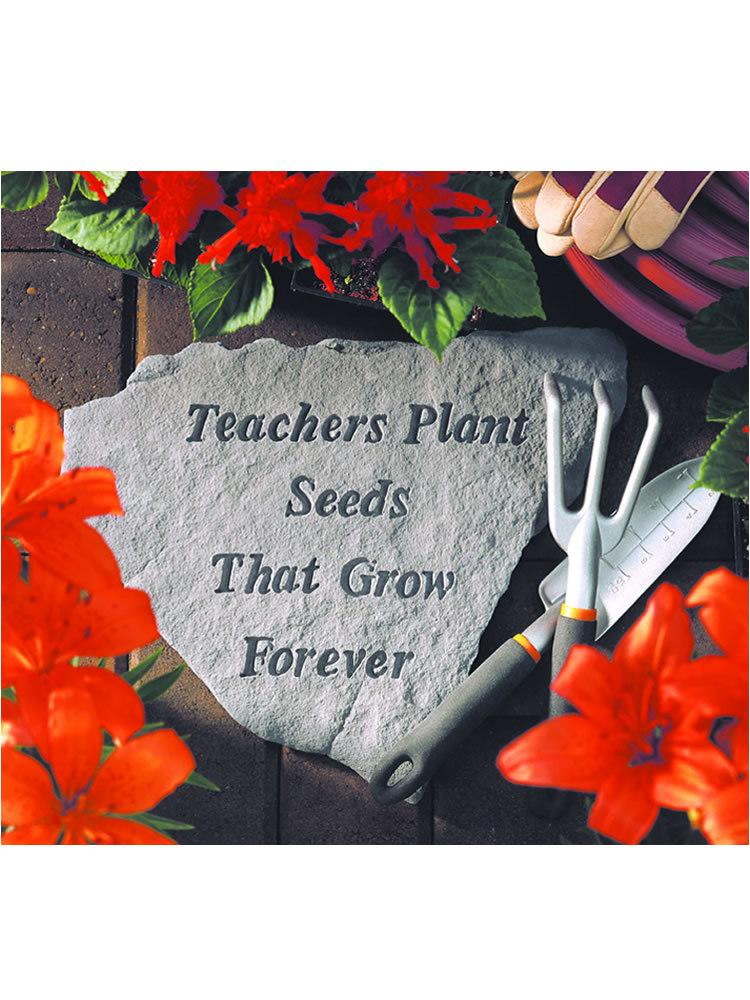Teachers Plant Seeds Stone Plaque