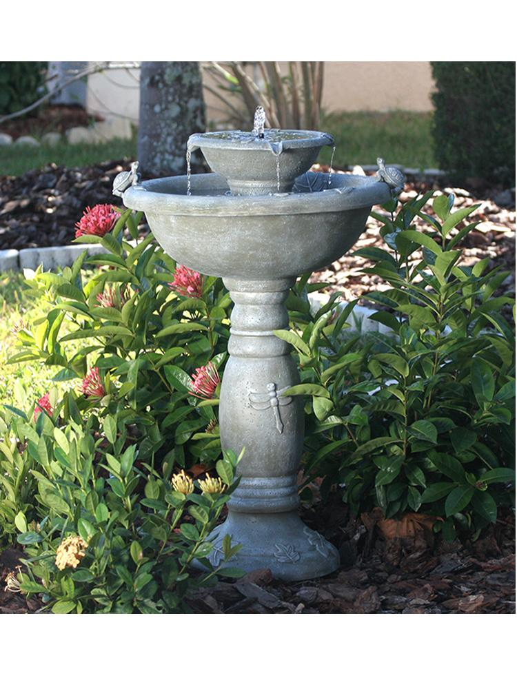 Hayfield Two Tier Garden Fountain