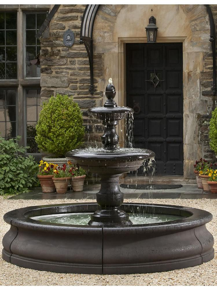 caterina fountain in basin - Garden Fountains