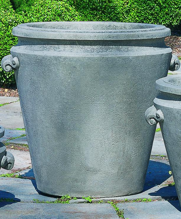 Set Of 2 Scroll Handle Large Planters With FREE Plants