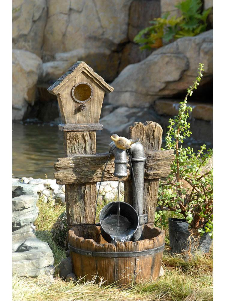 Bird House Pump Fountain
