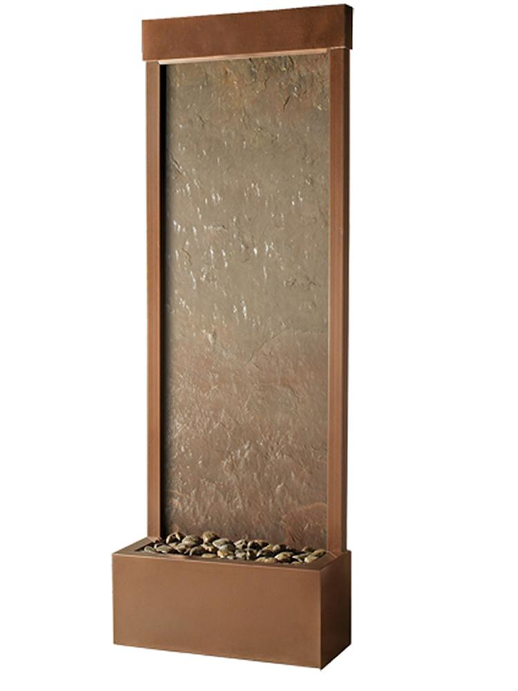 Slate Tech Gardenfall Small Fountain in Copper Vein