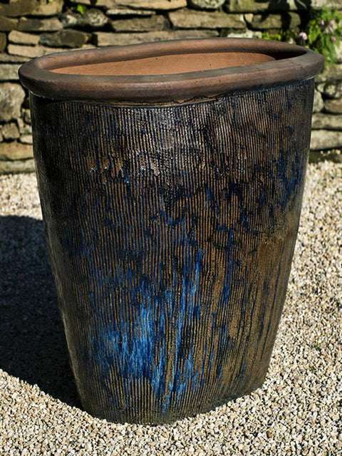 Tokei Planter in Rustic Blue