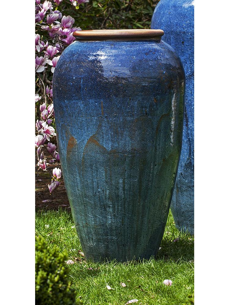 Short Sora Jar in Rustic Blue