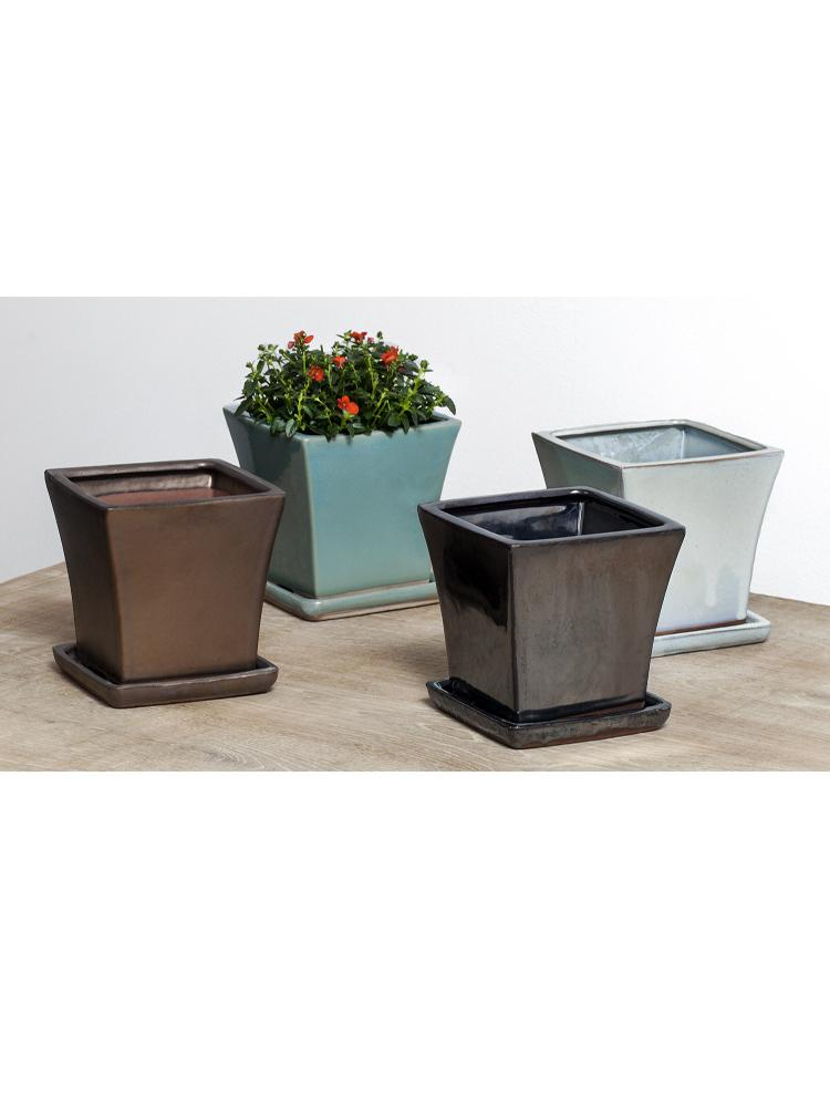 MCM Square Flared Planter - Set of 8