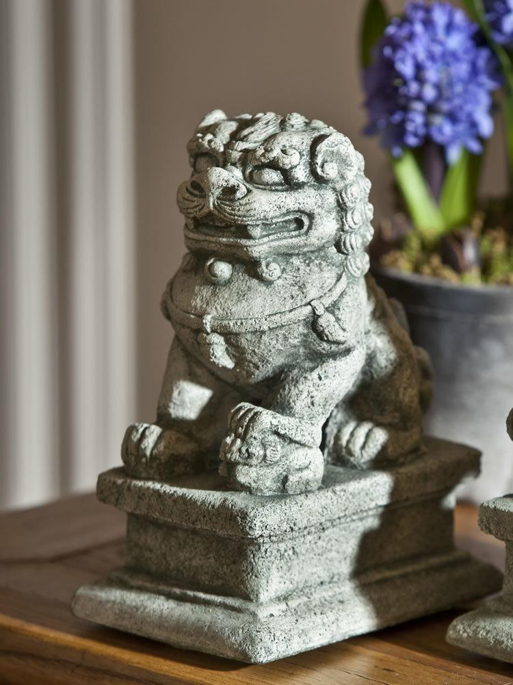 Small Temple Foo Dog Left