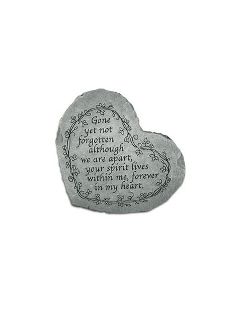 Gone Yet Not Forgotten Mini Heart Garden Stone/Plaque
