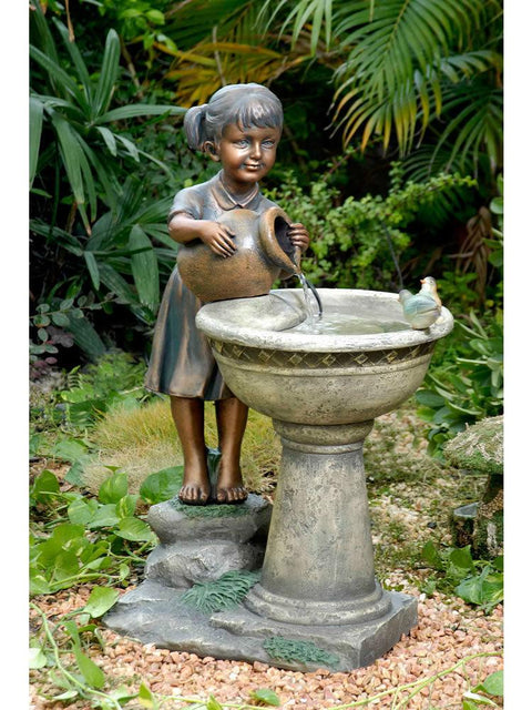 Lucy and Jug Water Fountain