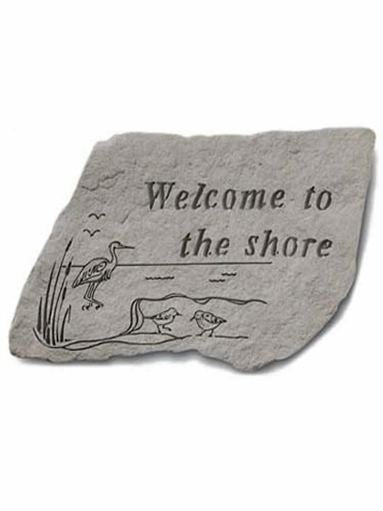 Welcome to the Shore Garden Accent Rock