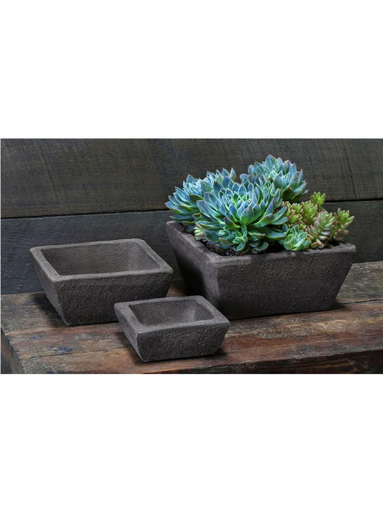Earth Square Planter Set of Six in Peat