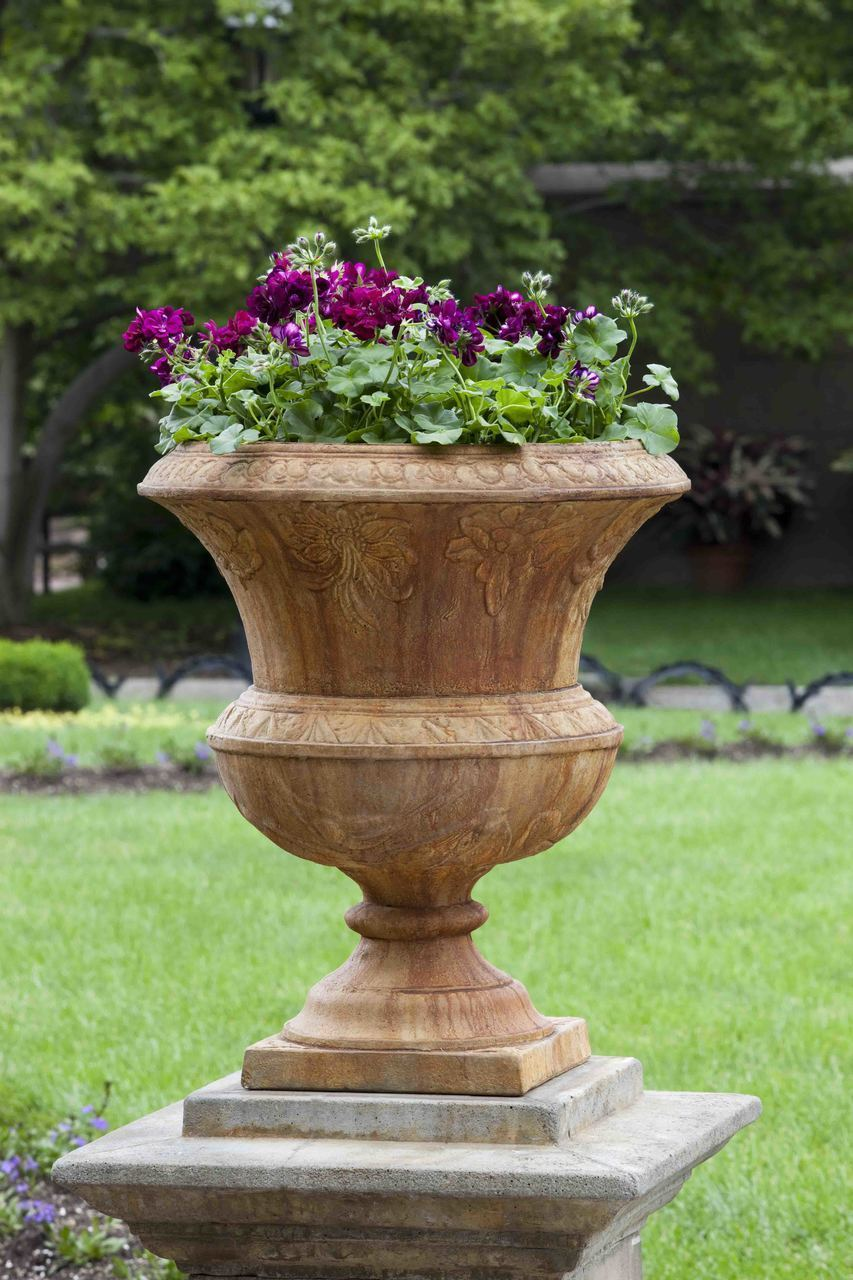 Set of 2 Smithsonian Flight of Fancy Urns with FREE Plants