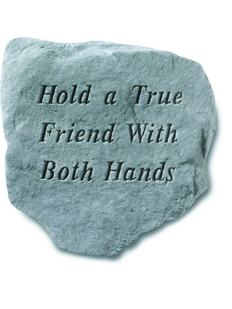 Hold a True Friend Stone Plaque