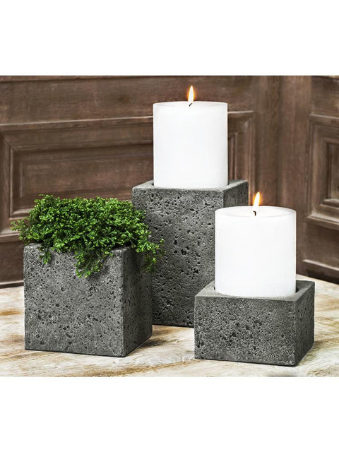 "Soho Square Pillar Candleholder/Planter Set of Six (4"" Candle)"