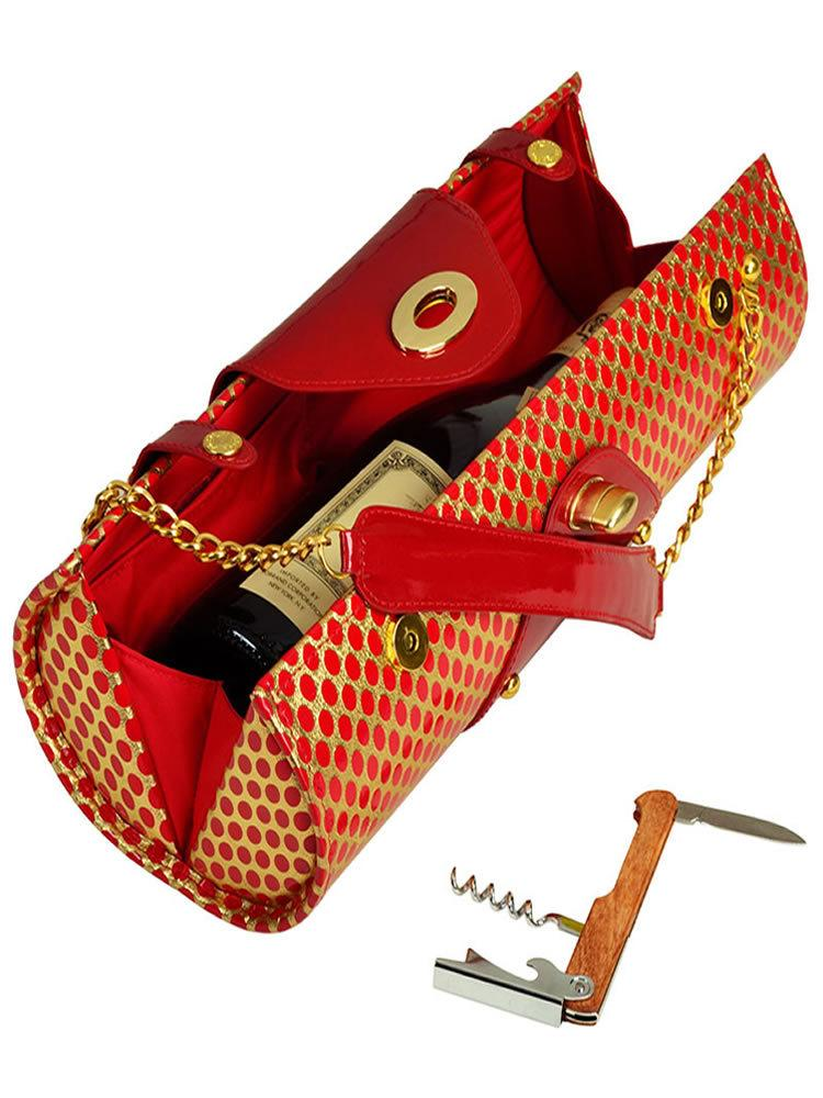 Wine Carrier & Purse -Patent Red
