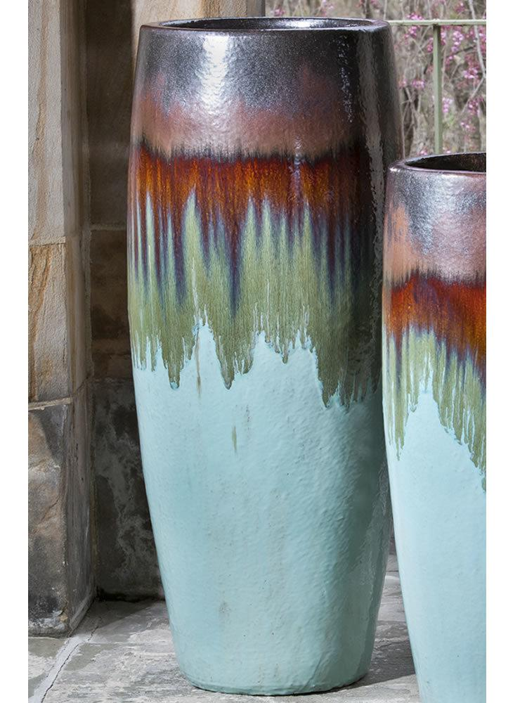 Sabine Tall Planter in Glacier
