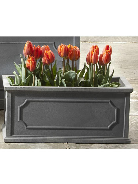 Hamsphire Poly Window Box Medium in Lead