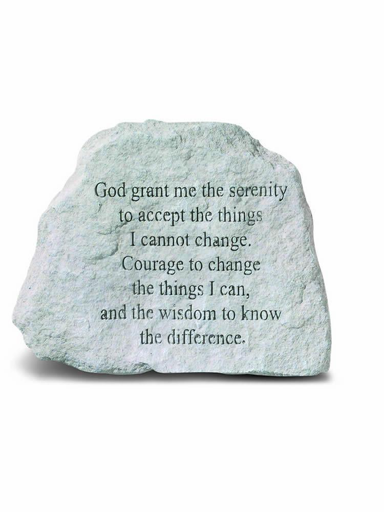 Serenity Prayer Mini Garden Stone/Plaque