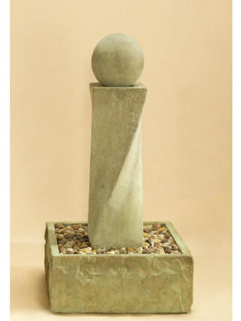 Rustic Mod Twist Fountain with Ball