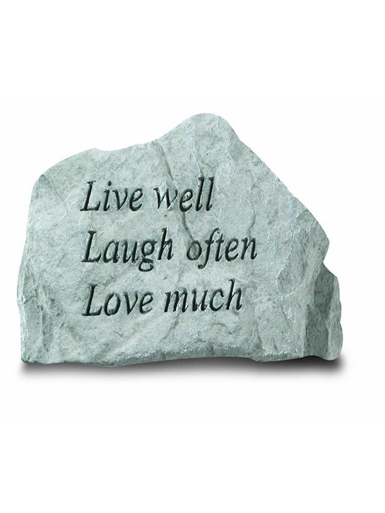 Live Well Mini Garden Stone/Plaque