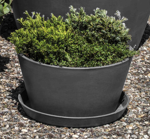 ECOPOT Tub Plntr & Saucer Lg-in Grey