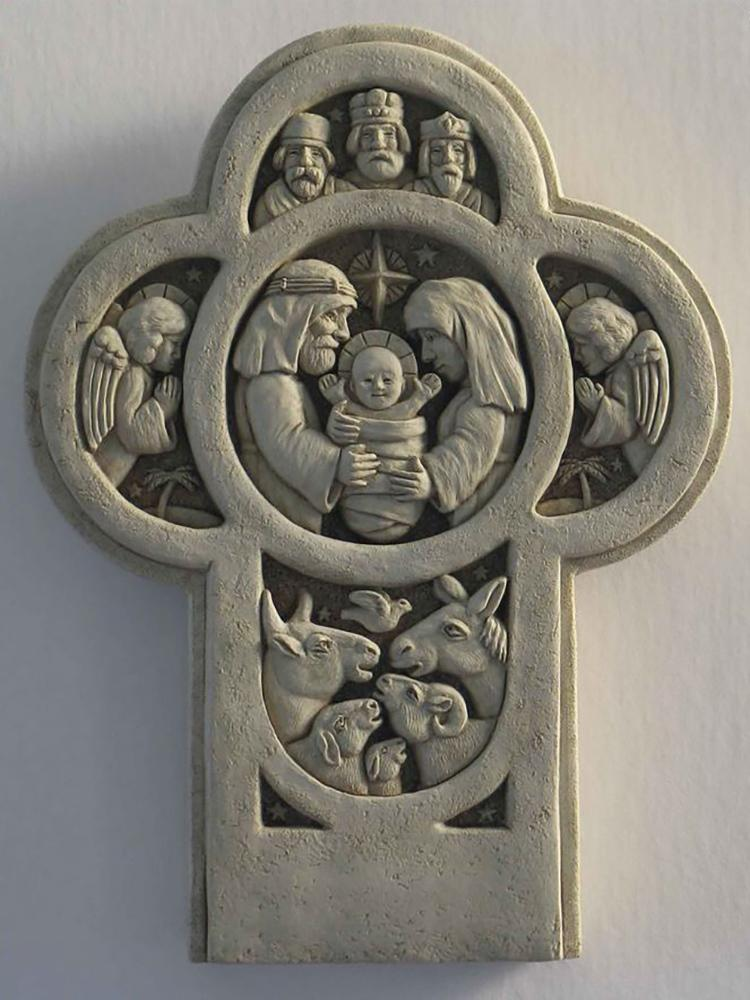 Nativity Cross Plaque