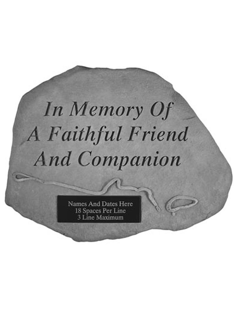 In memory.. with Leash & Collar Garden Stone Engraved