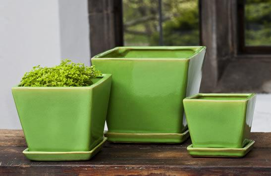Darcy Planter - Yellow Green