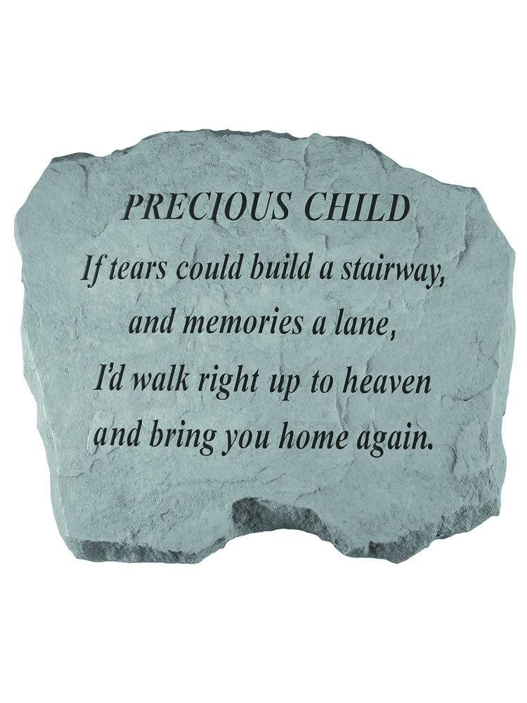If Tears Could Build a Stairway - for Precious Child Garden Accent Rock