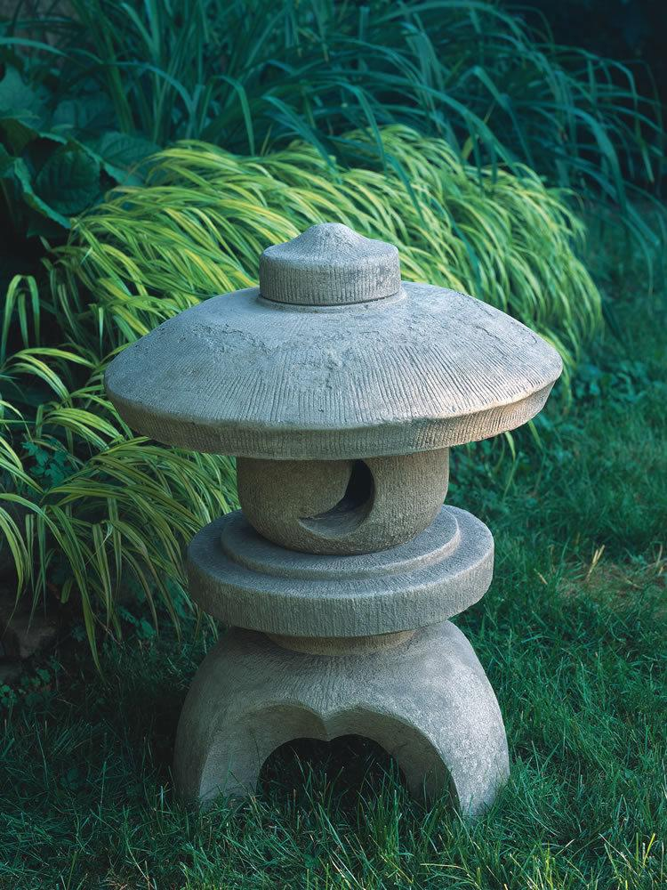 Asian Inspired Concrete Outdoor Garden Statue and Accent: Campania ...