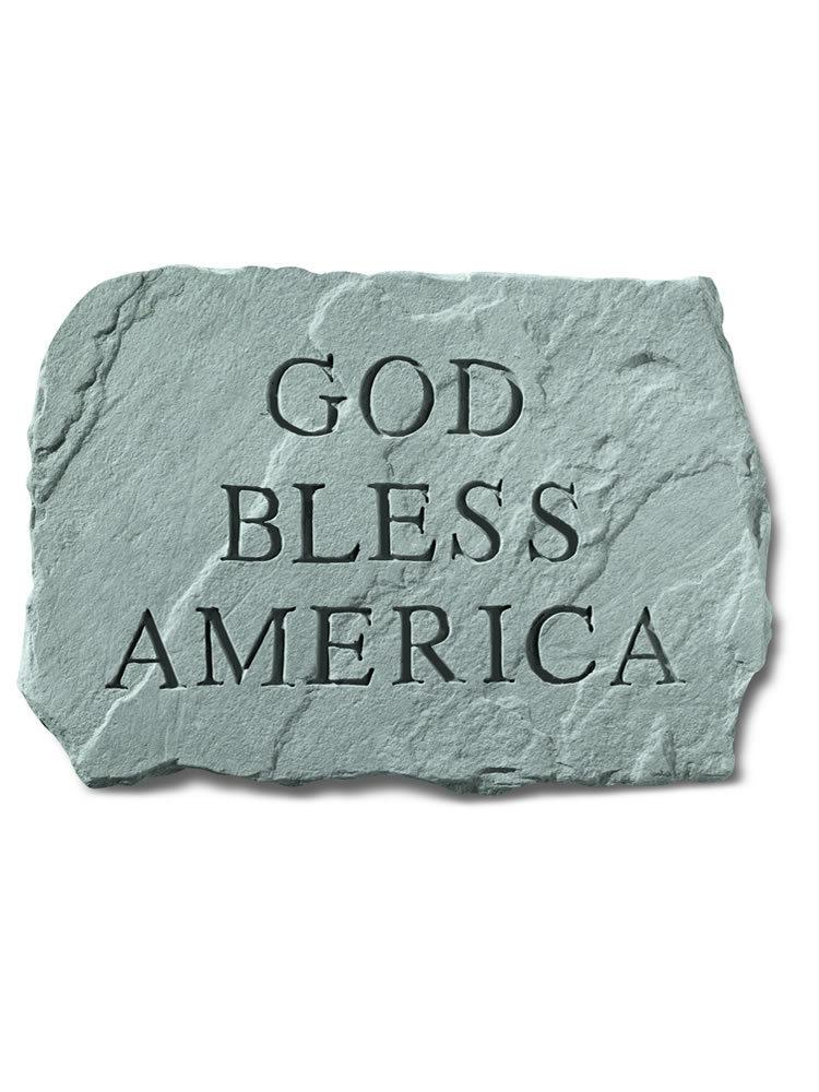 God Bless America Stone Plaque