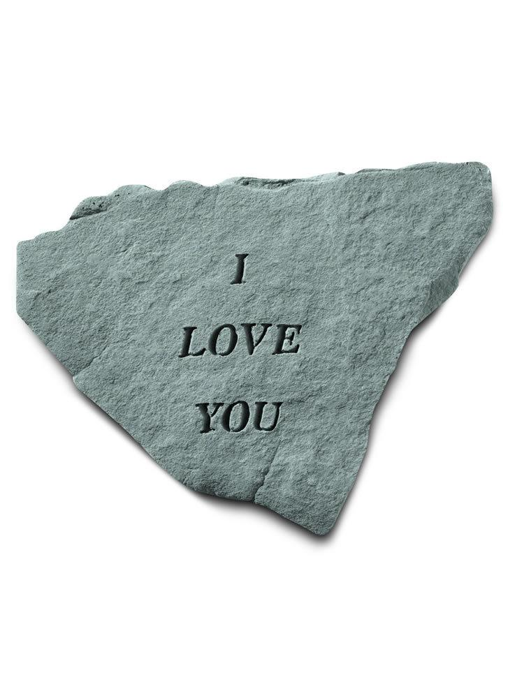 I Love You Stone Plaque